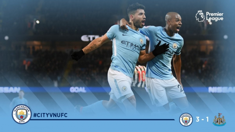 Манчестер Сити уверенно победил Ньюкасл