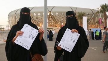 Женщины в Саудовской Аравии впервые посетили футбольный матч (видео)