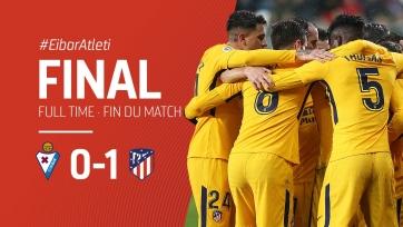 «Атлетико» победил «Эйбар» и сократил отставание от «Барселоны»