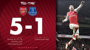 «Арсенал» забил пять мячей «Эвертону», Мхитарян сделал три голевые передачи