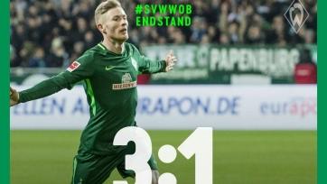 «Вердер» победил «Вольфсбург» и отдалился от «зоны вылета»