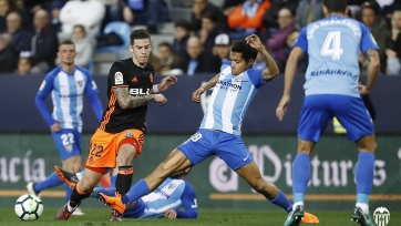 «Валенсия» вырвала победу у «Малаги»