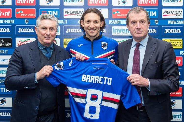 Баррето продлил договор с «Сампдорией»