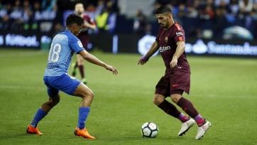 «Барселона» без Месси уверенно обыграла «Малагу»