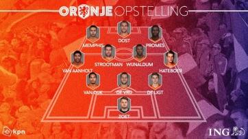 Нидерланды – Англия. Стартовые составы команд