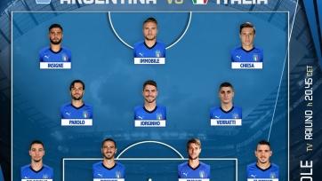 Аргентина – Италия. Стартовые составы команд