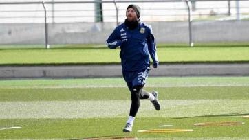 Месси принял участие в тренировке сборной Аргентины
