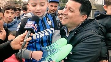 Рафинья проявил щедрость и осчастливил маленького фаната «Интера»