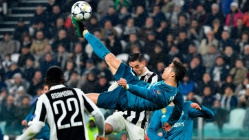 Удар через себя Роналду номинирован на звание лучшего гола 1/4 финала ЛЧ