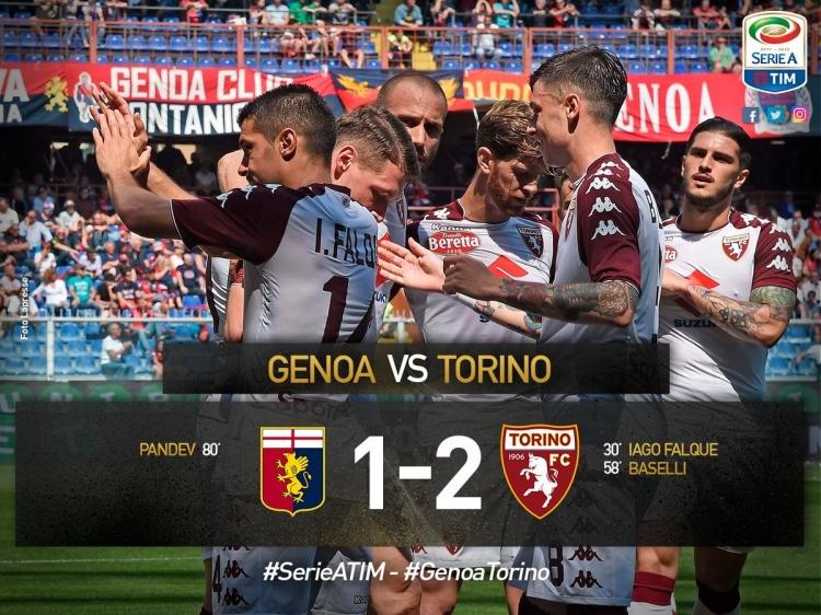 «Торино» завершил сезон, переиграв «Дженоа»