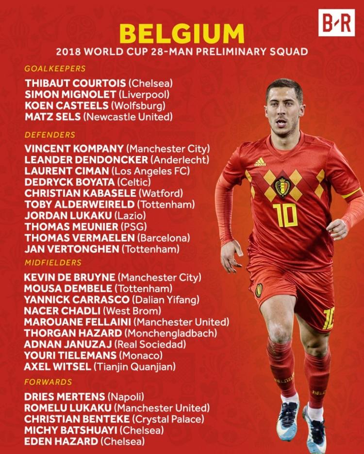 Мартинес огласил заявку сборной Бельгии, Наингголана в ней нет