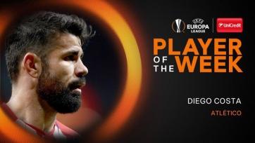 Диего Коста – лучший игрок недели в Лиге Европы