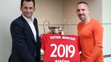 Официально: «Бавария» продлила контракт с Рибери до 2019-го года