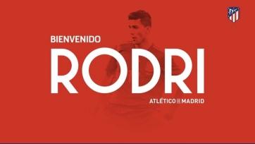 Официально: Родри Эрнандес стал игроком «Атлетико»
