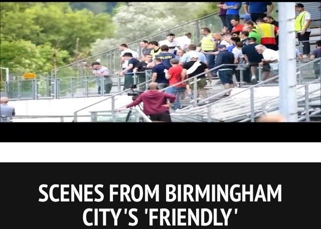 «Ахмат»: «Фанаты из Англии оскорбляли клуб, после чего их успокоили грозненские болельщики» (фото)