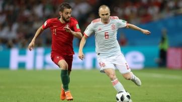 Иньеста опередил Хави в плане количества матчей за испанскую сборную