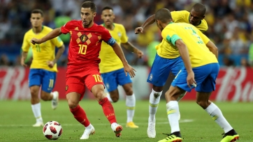 Азар сделал 10 обводок – столько же, сколько вся сборная Бразилии