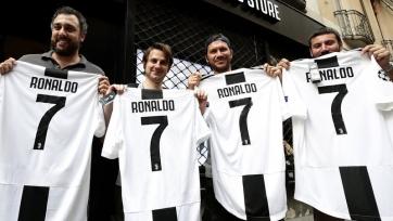 Всего за один день «Юве» продал футболок Роналду на 55 миллионов евро