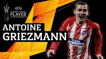 Гризманн – лучший игрок Лиги Европы образца прошлого сезона