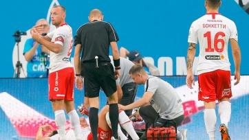 Защитник «Спартака» повредил связки колена в матче с «Зенитом»
