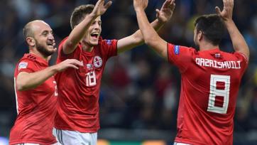 Красивый гол Чакветадзе в ворота сборной Казахстана