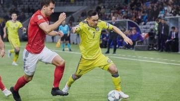 Казахстан чаще бил по воротам Грузии и владел преимуществом