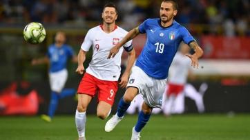 Бонуччи вышел на 11-е место по матчам за сборную Италии