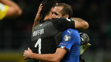 Кьеллини: «Буффон всегда будет связан со сборной Италии»
