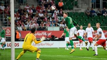 Польша вырвала ничью в матче с Ирландией