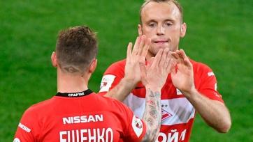 Глушаков и Ещенко отстранены от тренировок в «Спартаке»
