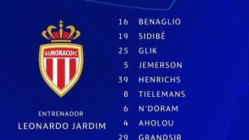 «Монако» - «Атлетико». Стартовые составы команд
