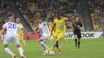 Киевское «Динамо» упустило победу в матче с «Астаной»