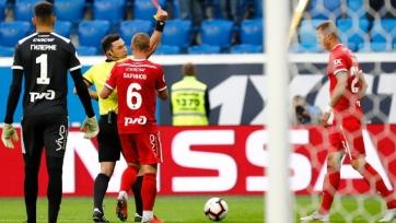 Тарасов отреагировал на удаление в матче с «Зенитом»