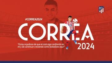 Официально: Корреа продлил контракт с «Атлетико