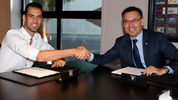 Официально: Бускетс продлил сотрудничество с «Барселоной»