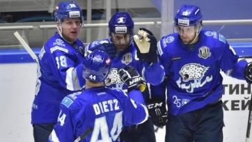 «Барыс» одержал пятую победу в последних шести играх КХЛ