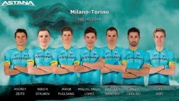 «Астана» объявила состав на «Милан-Турин»