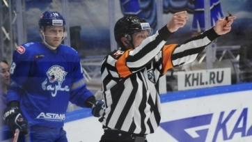 КХЛ отменила дисквалификацию за «симуляцию» нападающему «Барыса»