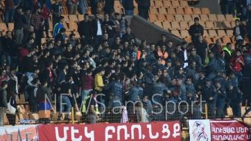 Болельщики сборной Армении подрались с полицией после поражения от Гибралтара