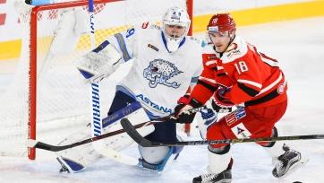 «Барыс» прервал серию «Автомобилиста» из 18 подряд побед в КХЛ