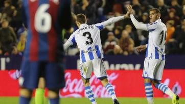 «Реал Сосьедад», забив за 10 минут трижды, победил на выезде «Леванте»
