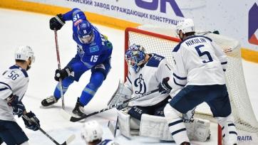 «Барыс» в овертайме уступил дома московскому «Динамо»