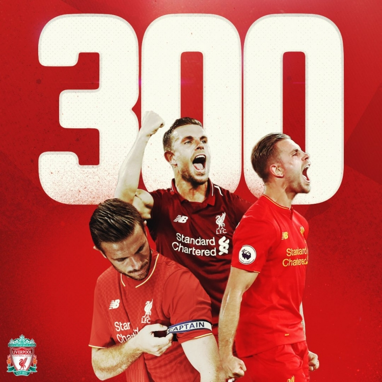 Хендерсон проводит 300-й матч за «Ливерпуль»