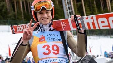 Гайгер выиграл этап Кубка мира по прыжкам на лыжах с трамплина