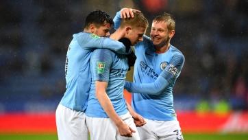«Манчестер Сити» в серии пенальти выиграл у «Лестера» и вышел в полуфинал Кубка английской лиги