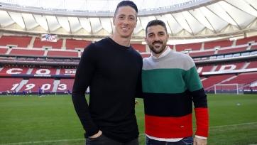 Вилья и Торрес побывали на новом стадионе «Атлетико». Фото