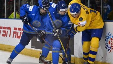Казахстан на молодежном чемпионате мира разбит Швецией