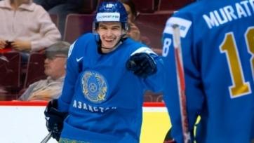 Хоккеист молодежной сборной Казахстана делит первое место в споре лучших бомбардиров МЧМ-2019