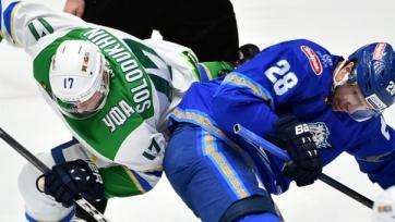 «Барыс» в овертайме победил «Салават Юлаев» и гарантировал себе место в плей-офф. Видео