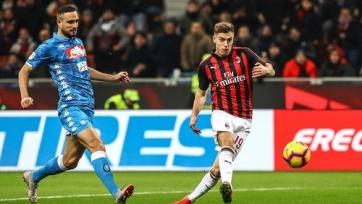 «Милан» переиграл «Наполи» в Кубке Италии. Пёнтек оформил дубль